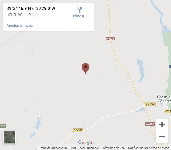 Localización de Finca los Jarales en Casar de Cáceres